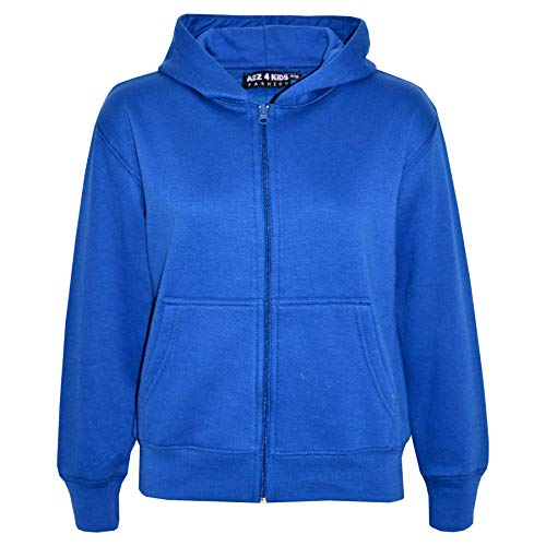 A2Z 4 Kids� Kids Girls Boys Plain Tracksuit Hooded Hoodie Bottom Jog Suit Joggers New Age 7 8 9 10 11 12 13 Years Royal Blue