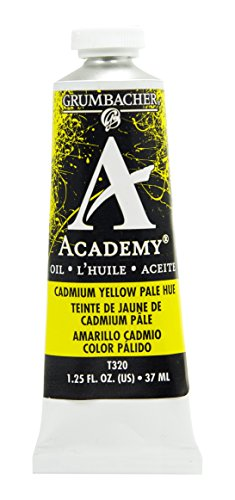 Grumbacher Academy Oil Paint, 37 ml/1.25 oz, Cadmium Yellow Pale Hue