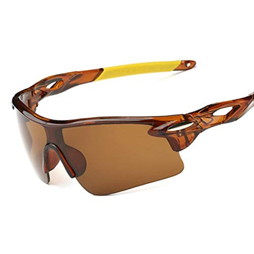 CVMW Gafas de sol reflectantes de colores, gafas de equitación para hombre y mujer, gafas de sol a prueba de explosiones
