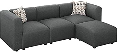 Amazon.com: BOWERY HILL Sonoma - Sofá modular de 6 piezas ...