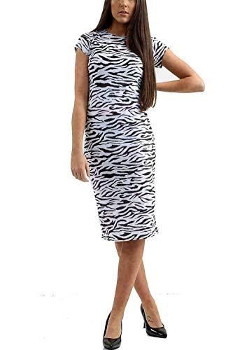 Hi Fashionz Mujer Tigre Serpiente Vestido sobre Rodilla Ajustado Estam