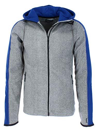 Chiemsee Herren elastischem mit Logo-Webbund Fleecejacke, Frost Gray, S