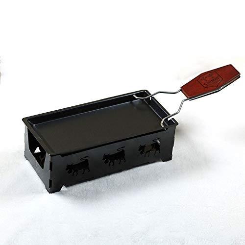 Mini antiadhésive machine à cuire au fromage gadget utilitaire poignée en bois plateau de cuisson four à fromage barbecue outil