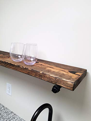 Open Bathroom Industrial Pipe Shelves, available in 20 colors and 6 widths by Renewed Decor and Storage Illinois
