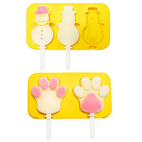 🍧SIL SILICONA DE ALIMENTACIÓN: los moldes para helados están hechos de silicona de alta calidad, de grado alimentario, sin BPA, aprobada por la FDA, sin olor, sin sabor, ecológica, reutilizable y duradera. 🍧Horno, congelador, lavavajillas y microonda...