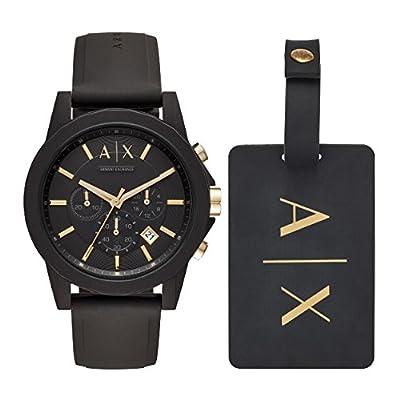 Armani Exchange Herren Chronograph Quarz Uhr mit Silikon Armband AX7105 zu einem TOP Preis.
