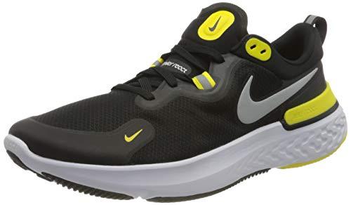 Nike React Miler, Zapatillas para Correr de Carretera Hombre, Black White OPTI Yellow Dark G, 40.5 EU
