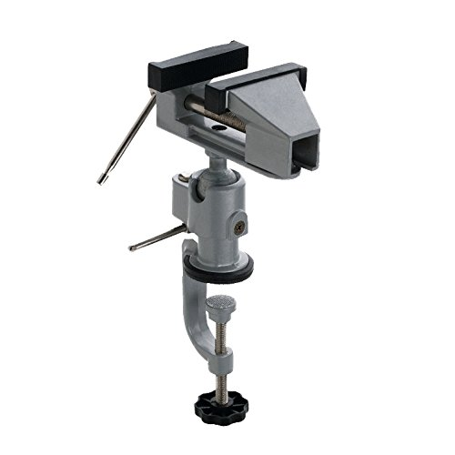 Connex COM870050 Gelenkschraubstock 50 mm inklusiv Bohr und Maschinenhalterung