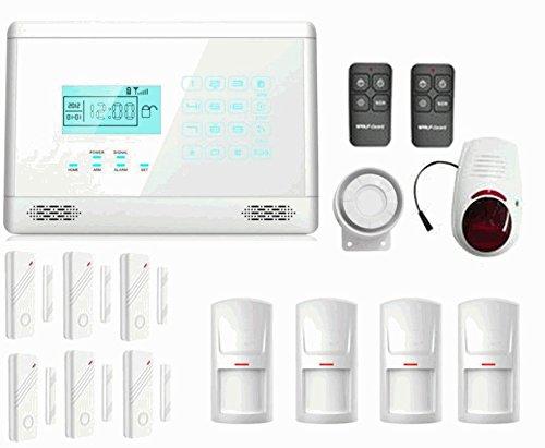 Kit antirrobo Alarma casa Kit gsm inalámbrico inalámbrico controlable Desde el teléfono móvil