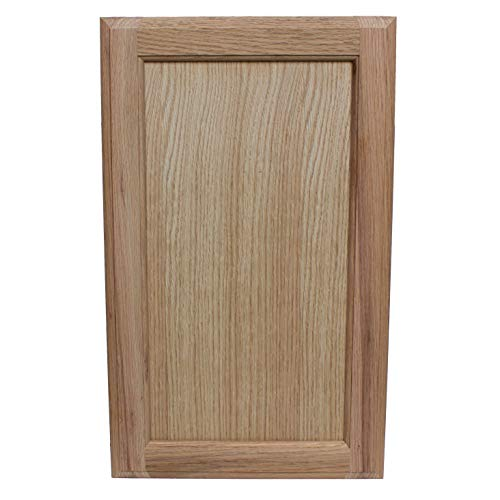 Unfinished Oak Square Flat Panel Cabinet Door Front by GlideRite, 28H x 16W