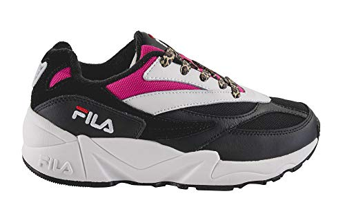 Luxury Fashion | Fila Dames 101060013F Zwart Leer Sneakers | Herfst-winter 19