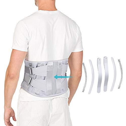 Lendenwirbelsäule Stützgürtel, zum Lendengurt Bandscheibenvorfall, LWS Stützgürtel Rückenstützgürtel Orthopädisch Lendenwirbelstütze Gürtel Rückenbandage mit gebogenen Aluminiumstreifen Ischias