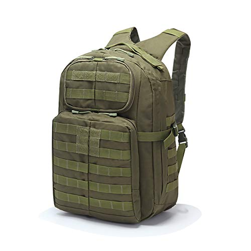 UELEGANS Military Tactical Backpack, 45L Large Capacity Rucksacks 3 Day Army Assault Pack Bag for Hunting, Trekking and Camping and Other Outdoor Activities,C