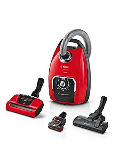 Bosch Electroménager BGL8PET2 Aspirador con Bolsa Pro Animal, 650 W, 72 Decibeles, Rojo
