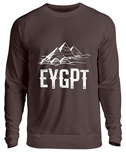 Schuhboutique Doris Finke UG (haftungsbeschränkt) Ägypten Kairo Pyramiden von Gizeh - Unisex Pullover -XL-Schokolade
