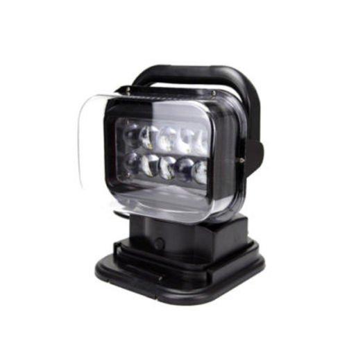 Ting Ao CREE LED 50W Télécommande Spot de Recherche 360° Noir pour Bateau SUV Voiture