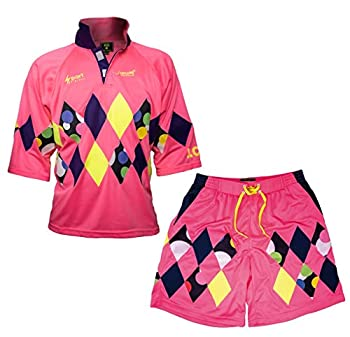 Jorge Campos Jersey and Bermuda Official Limited Edition Raute Sport Mexican Pink S.