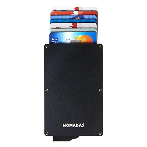 Kaartenetui met premium geldklem voor super sterke grip, creditcardetui met RFID-bescherming, minimalistische aluminium portemonnee voor dames en heren