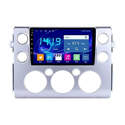 Reproductor multimedia Estéreo para automóvil para Toyota FJ Cruiser 2007-2018 Unidad principal de Android Auto HD Pantalla táctil Receptor de radio Soporte de navegación por satélite Navegación GPS