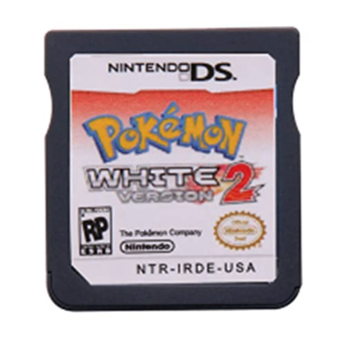 LINLIN DS Tarjeta de Consola de Cartuchos de Juego Pokebon Series Black White Heartgold Soulsilver Diamond Pearl Platinum R4 Version Fit for Nintendo DS Sally (Color : White 2)