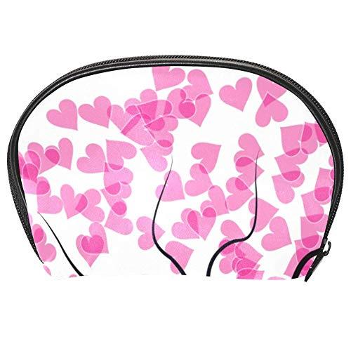 Bennigiry Trousse de toilette multifonction avec fermeture Éclair Motif arbre de Saint-Valentin et cœurs roses