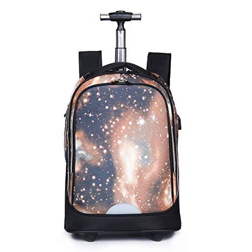Suytan Myalq Kids Trolley Luggage Bag 35L Trolley Mochila para Niños Y Adultos 2 Ruedas Giratorias Equipaje con Ruedas 50 cm (Multicolor), M,C