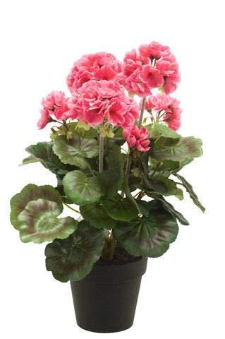 Artplants Set 8 x Geranio Artificial MASALIA, Rosa, 35cm - Geranio de plástico/Flor Falsa