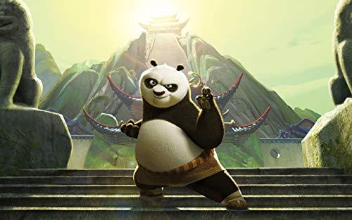 1000Pcs Rompecabezas para Adultos Rompecabezas De Papel De Madera Juguetes Educativos para Niños Pegatinas De Decoración del Dormitorio Regalos para,Kung Fu Panda