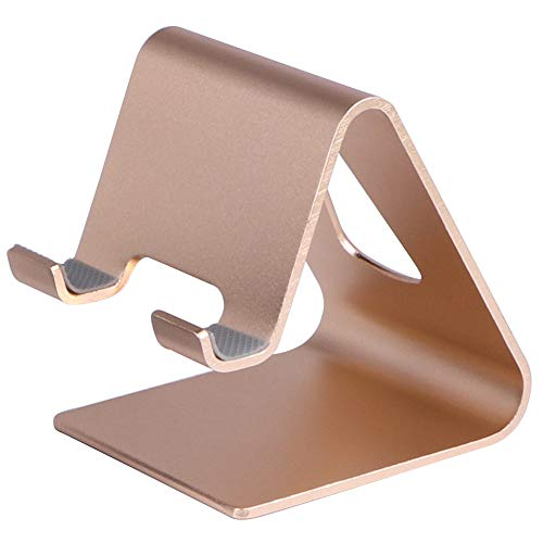 Cell Phone Universal Desk Stand Compatible with All Mobile Smart Phone,Heavy Duty But Elegant, High End Look (Gold)