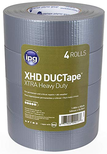 IPG XHD DUCTape, Extra Heavy Duty Duct Tape, 1.88
