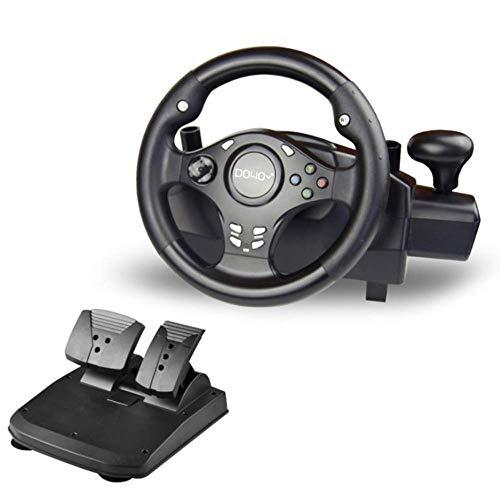 YWT Volant de Jeu Double Volant de Sport Automobile 270 degrés, avec Levier de Vitesses, pour PS3 / PS4 / Xbox One/Xbox 360 / NS Switch/PC/Android