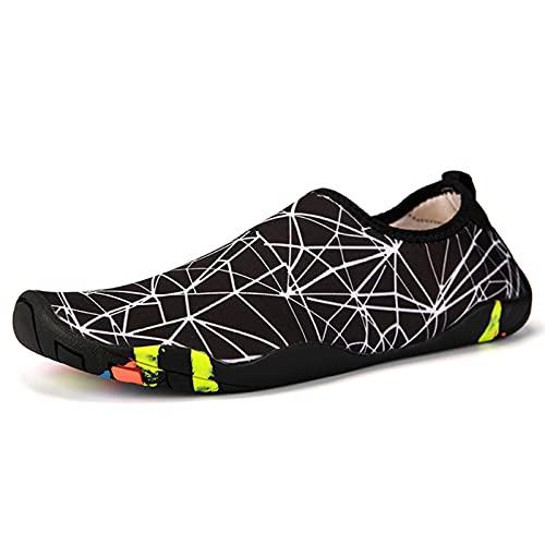 SHENGWEI Aqua Socks Buceo Snorkel Calzado de Natación Unisex Zapatos de Natación Rafting, Wading, Playa suave de secado rápido, Agua antideslizante, Zapatos de Playa (Color: Plata, Talla: 42)