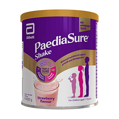 PaediaSure Shake Balanced Nutritional Supplement Drink | Multivitamin for Kids with Protein, Carbohydrates, Essential Fatty Acids and Minerals to Support Growth and Development† | 400g | Strawberry
