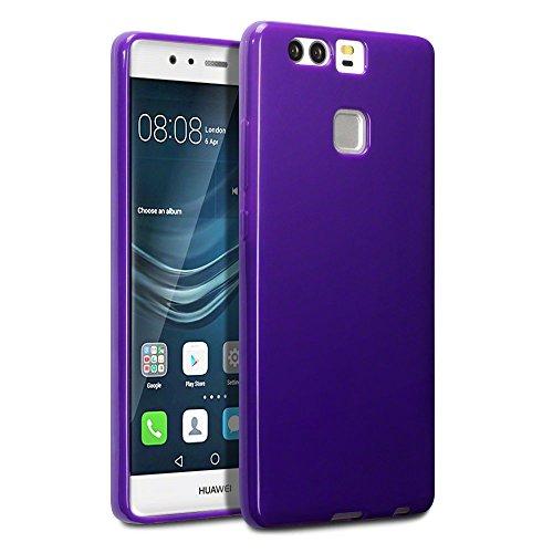 TERRAPIN, Kompatibel mit Huawei P9 Cover, TPU Schutzhülle Tasche Hülle Cover für Huawei P9 Hülle Lila