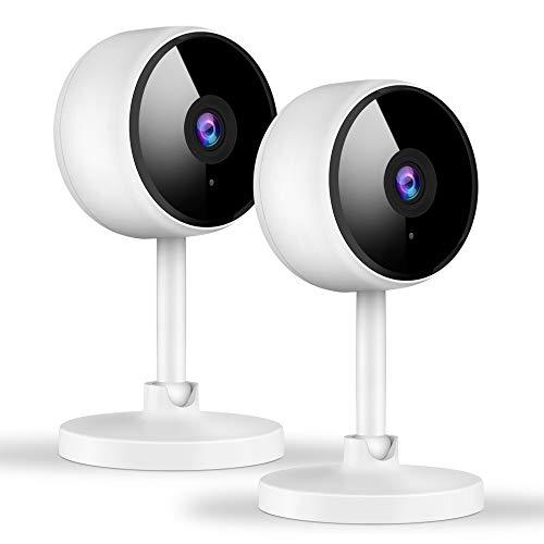 Überwachungskamera Innen, Littlelf Babyphone mit Kamera, WLAN IP-Kamera mit 2-Wege-Audio,1080P Überwachungskamera für Haustier/Baby/Ältere, Unterstützt Unterstützt Cloud-Speicher & SD-Karte