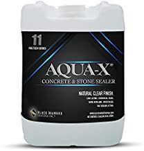 5 Gallon AQUA-X 11 Clear, Penetrating Stone and Concrete Sealer - Professional Grade Water-Based Indoor/Outdoor for Concrete, Stone, Slate, Brick, Unglazed Tile, Pavers, Driveway and Patio