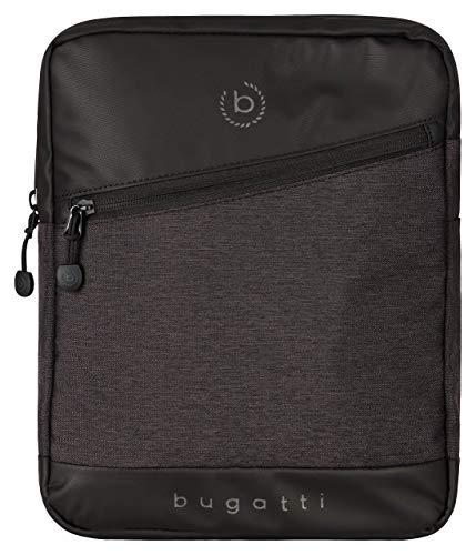 Bugatti Universum Kleine Umhängetasche für Herren, Schultertasche Messenger Bag Kuriertasche, Schwarz