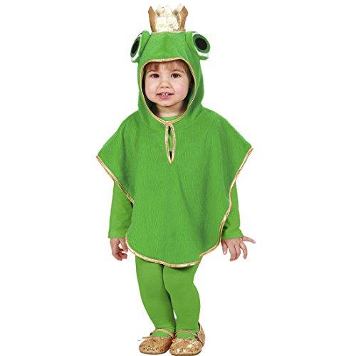 Amakando Kinder Froschkostüm Kapuzenponcho Frog 110 cm 3-4 Jahre Froschkönig Poncho Frosch Kostüm Karnevalskostüme Kleinkinder Tierkostüm Kapuzencape Tier Kinderkostüm Märchen