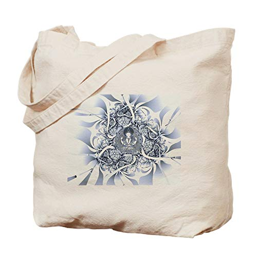CafePress Lotus Buddha Natural Canvas Tote Bag, Reusable Shopping Bag