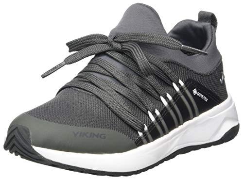 Viking Engenes GTX, Zapatillas para Caminar, Charcoal/Blanco, 34 EU