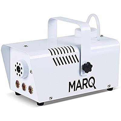 Marq Fog 400 LED, Professional Fog Machine with LED Lighting Effects and Wired Remote for Halloween, Christmas, Weddings, Disco, DJ Party,White