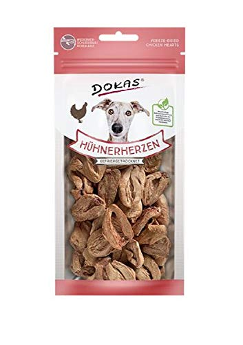 Dokas Dog Snack Hühnerherzen gefriergetr. 22g (Menge: 8 je Bestelleinheit)