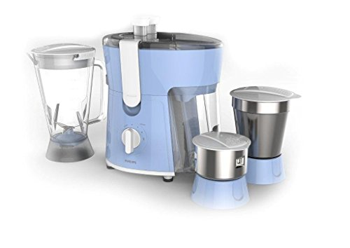 Philips Amaze HL7576/00 600-Watt Juicer Mixer Grinder with 3 Jars (Celestial Blue/Bright...