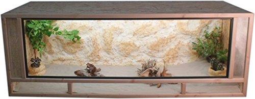 Tropic-Shop OSB Terrarium - Holzterrarium - Front aus massiven Fichtenhholzrahmen - Made In Germany !! (120x60x60cm)