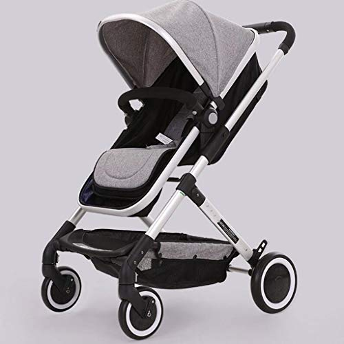 Great Features Of PLDDY Standard Baby Carriage High Landscape Can Sit Horizontal Portable Folding Sh...