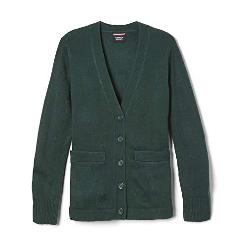 French Toast Boys' Little Anti-Pill V-Neck Cardigan Sweater (Standard & Husky), Hunter Green, 6-7