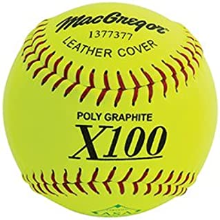 MacGregor X52RE ASA Slow Pitch Leather Softball, 12-inch (One Dozen)