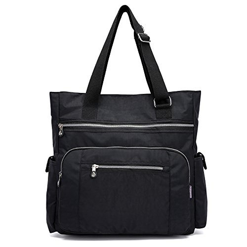Mfeo Womens Multi Pockets Adjustable Nylon Large Tote Shoulder Work Bag Handbags