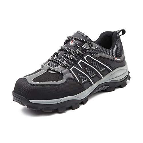 jincan Zapatos de Seguridad para Hombre Zapatillas con Punta de Acero Zapatos de Trabajo Ligeros Zapatillas industriales Transpirables para Mujer - JI10