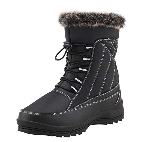 Shenji Zapatos de Invierno - Botas de Nieve para Mujer H7631 Negro 36